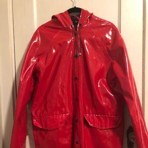 TopShop Red Rain Slicker